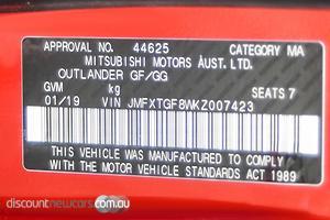 2019 Mitsubishi Outlander Black Edition ZL Auto AWD MY19